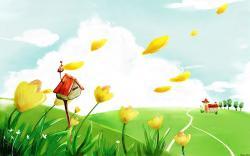 High Resolution Colorful Cartoon Kids Background Wallpaper HD 6 - SiWallpaperHD 2870