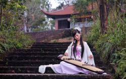 Koto Playing Girl