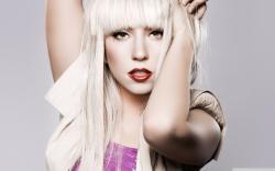Lady Gaga Blonde Long Hair HD Wide Wallpaper for Widescreen