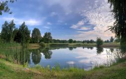 ... Square lake ...