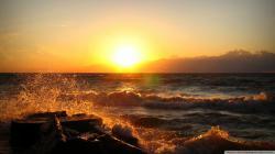 Hd Sunset On Lake Erie Saybrook Ohio Wallpaper Download Free 1920x1080px