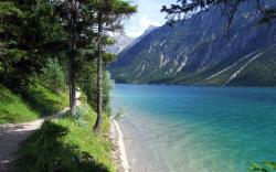 Lake footpath Wallpapers Pictures Photos Images. «
