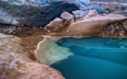 Lake glacier water