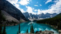 Lake Louise Canada 4k backgrounds Wallpaper