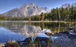 Lake mountains scenery