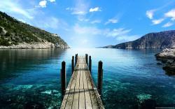 Mountain View Lake lake dock landscape