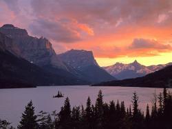 Saint mary lake glacier national park image