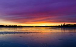 Lake sunset hd