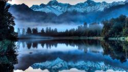 Foggy Lake wallpaper