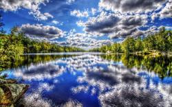 Lake water reflecting