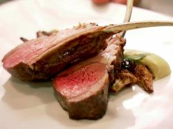 Grilled Lamb Chops with Artichoke Puree, Crispy Baby Artichokes and Cerignola Olive Recipe : Food Network