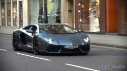 Grey 'Evil' Lamborghini Aventador - Small Revs and Accelerations