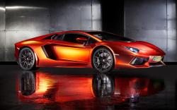 Print Tech Lamborghini Aventador supercar wallpaper 2560x1600