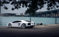 Lamborghini Aventador White Car Tuning