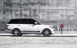 Land Rover Range Rover White Parking