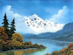 ... bob ross landscape painting ...