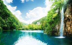 Beautiful Landscape Waterfall