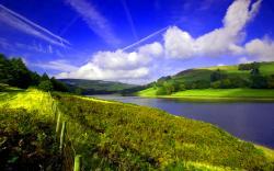 Landscape with calm river ...