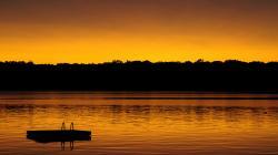 Calm Landscape Sunset
