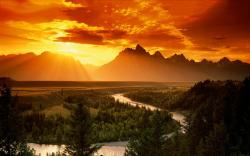 Landscape sunset scenery