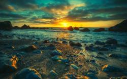 sunset sea nature landscape hd wallpapers new desktop nature images widescreen
