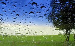 Landscape waterdrops