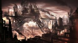 Lanterns Cities, Cities Steampunk, Steampunk Revu, Steampunk Artworks, Conceptual Artworks, Concept Art, Steampunkdigit Art, Steampunk Concept, Cities ...