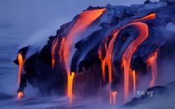 Preview wallpaper streams, steam, lava, volcano, eruption 3840x2400