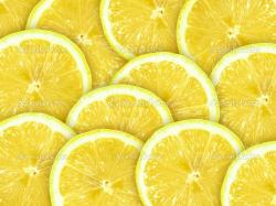 Abstract With Citrus Fruit Of Lemon Slices Wallpaper