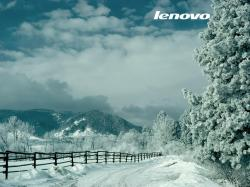 Lenovo Winter Wallpaper 1024x768