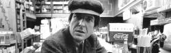 3840x1200 Wallpaper leonard cohen, cafe, bar, shop, coat