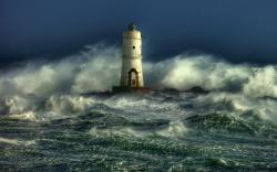 ... Lighthouse in the storm ...