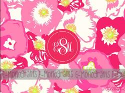 Lilly Pulitzer Monogram Wallpaper #6842 - Resolution 1024x768 px