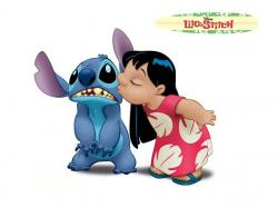 Poster with Disney characters Lilo and Stitch