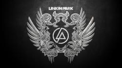 Preview wallpaper linkin park, wings, feathers, letters, symbol 1920x1080