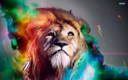 Colorful lion wallpaper 1920x1200 jpg