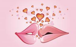 Lips Kiss Hearts Art