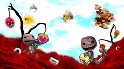 Little Big Planet Red Backgrounds