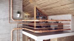 Industrial pipe railings