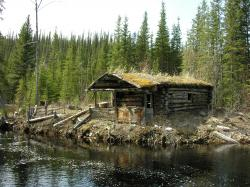 Old Log Cabin Wallpapers
