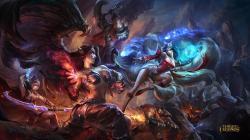 Morgana Versus Ahri · Wallpaper