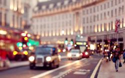London England United Kingdom City Lights Cars People