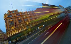 London traffic light trail