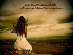 lonely girl, sad love, separation quote
