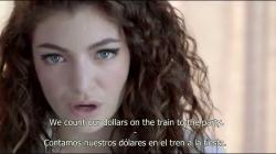 Lorde - Royals [W/ Lyrics][Subtitulado al Español] VEVO