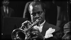 Preview wallpaper louis armstrong, pipe, jacket, ring, look 1920x1080