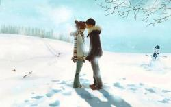 Love Couple Winter