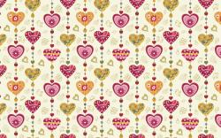 Love Hearts Texture Vector Graphics