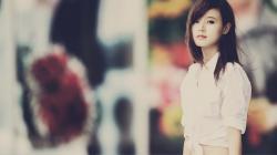 Photography Lovely Asian Girl Blur HD Wallpaper