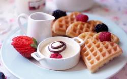 Lovely Breakfast Wallpaper